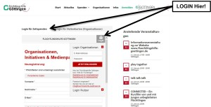 Login zur Ehrenamts-Datenbank