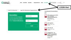 Login zur fluechtlingshilfe-goettingen.de