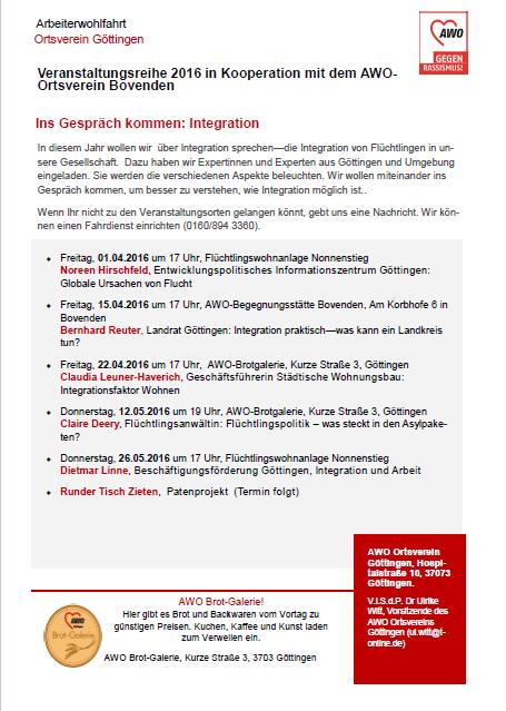 Ins Gespräch kommen: Integration – Arbeiterwohlfahrt startet Gesprächsreihe