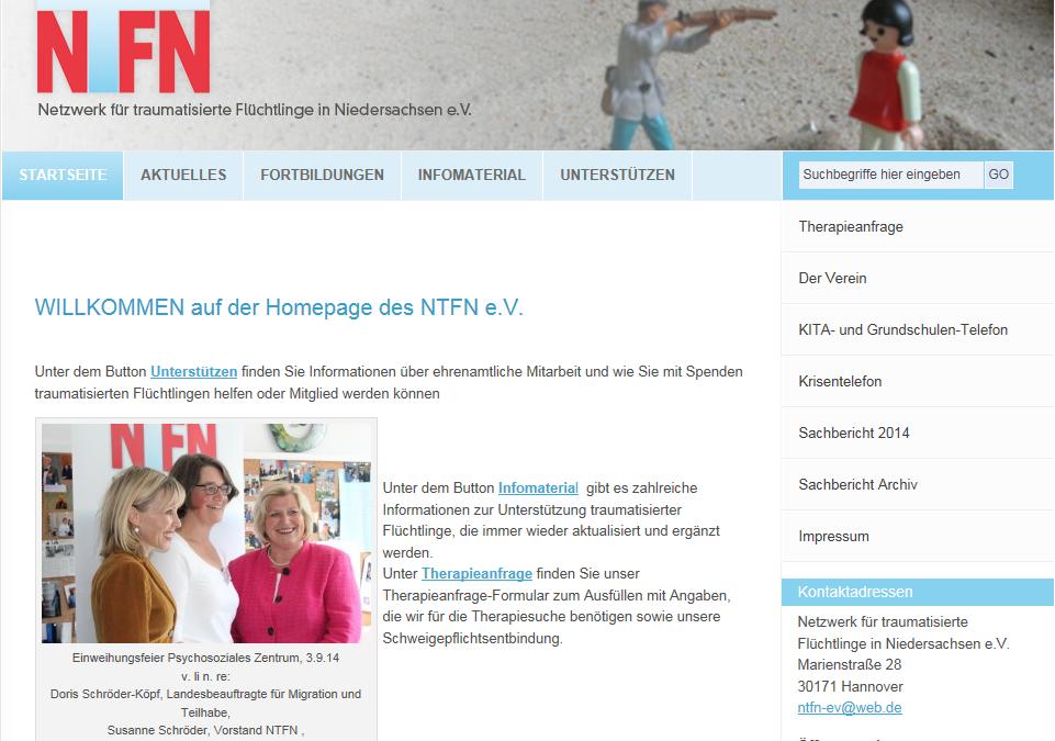 Angebot des Netzwerks für traumatisierte Flüchtlinge in Niedersachsen e.V.