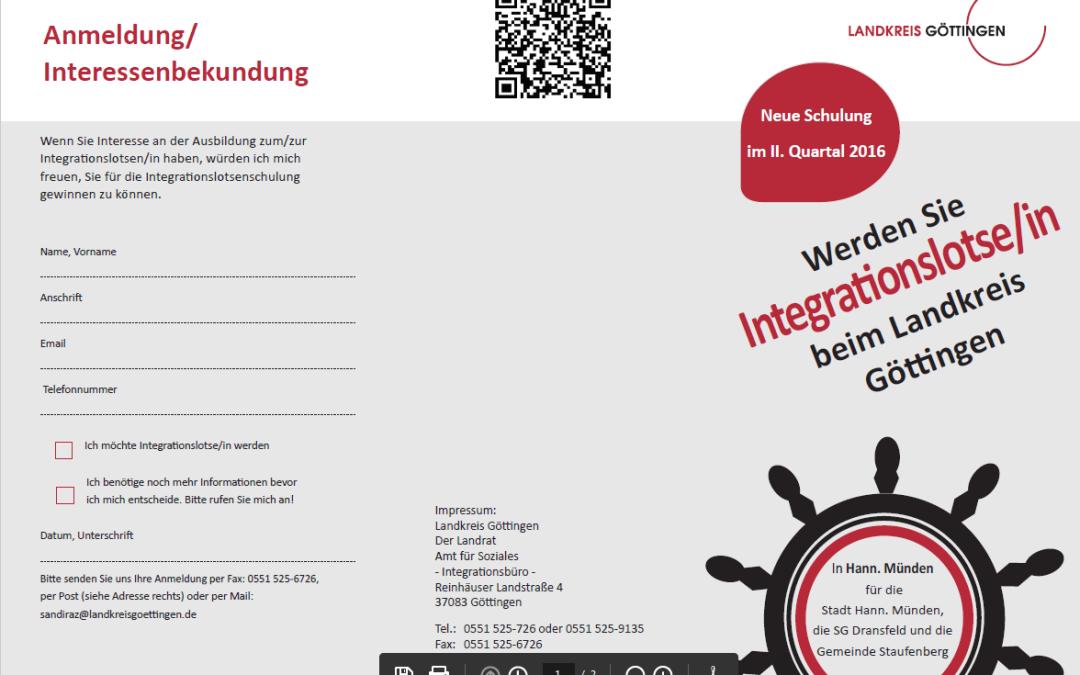Schulung ehrenamtlicher Integrationslotsen in Hann. Münden – Angebot für Interessierte aus Hann. Münden, Dransfeld, Staufenberg