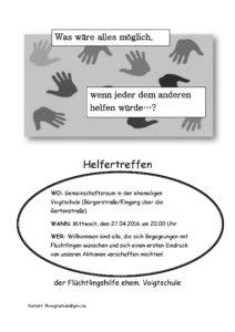 Flyer Treffen ehem. Voigtschule