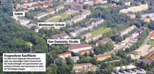 Kasernenparkplatz soll Sportplatz werden