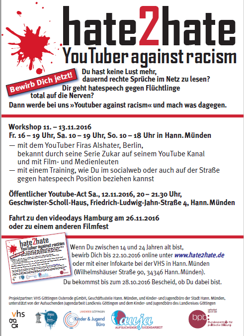 hate2hate – youtuber against racism