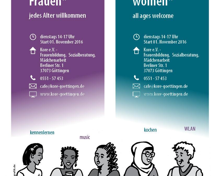 Offenes Cafe für geflüchtete Mädchen und Frauen