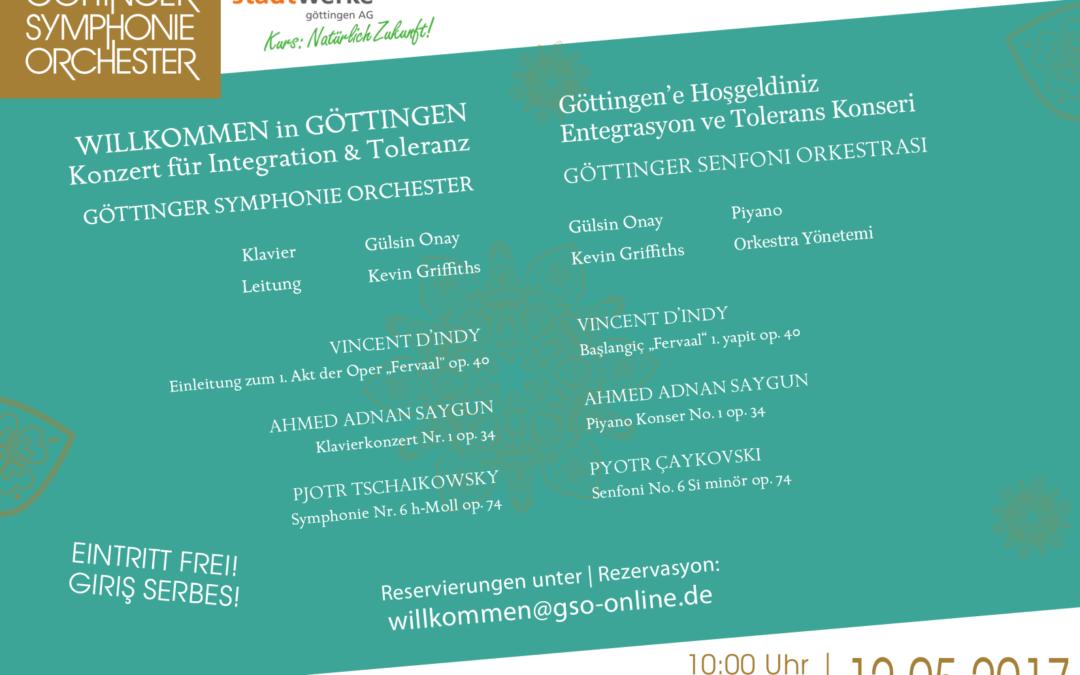 Willkommen in Göttingen: Konzert für Integration & Toleranz // Göttingen'e Hoşgeldiniz: Entegrasyon ve Tolerans Konseri