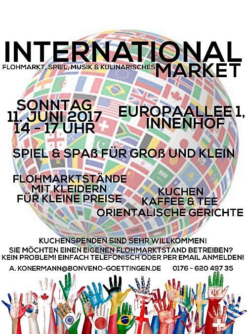 International Market – Flohmarkt, Spiel, Musik & Kulinarisches