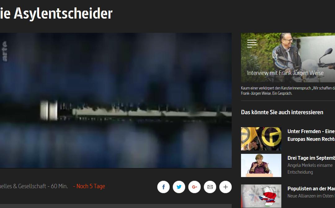 Die Asylentscheider – Eine Dokumentation in der ARTE Mediathek