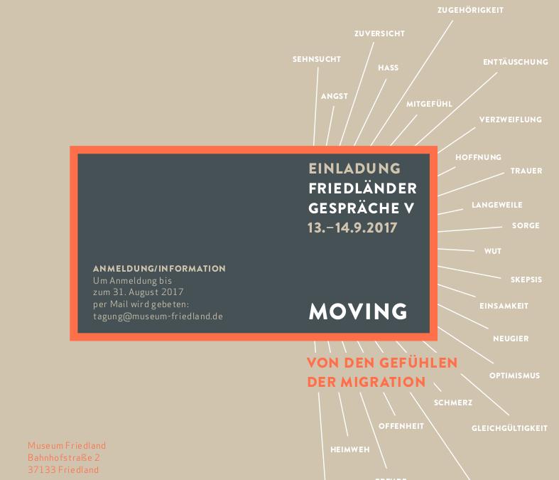Friedländer Gespräche V – Moving: von den Gefühlen der Migration