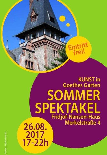 SOMMER SPEKTAKEL – KUNST in Goethes Garten