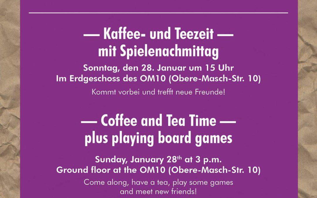 Kaffee- und Teezeit mit Spielenachmittag