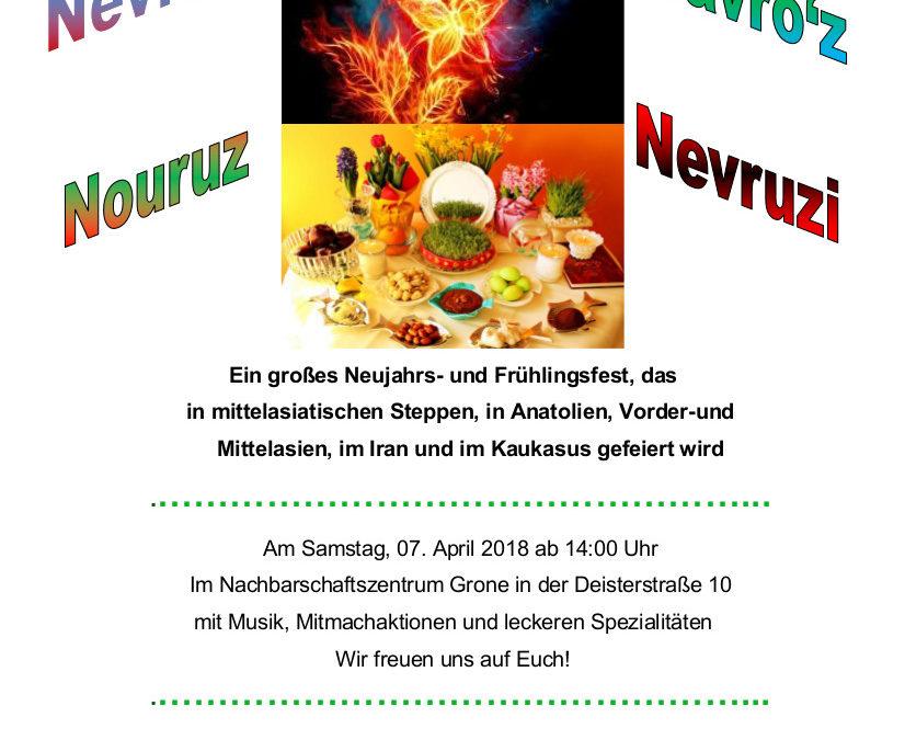 Nowruz-Fest am 07.04.2018 im Nachbarschaftszentrum Grone