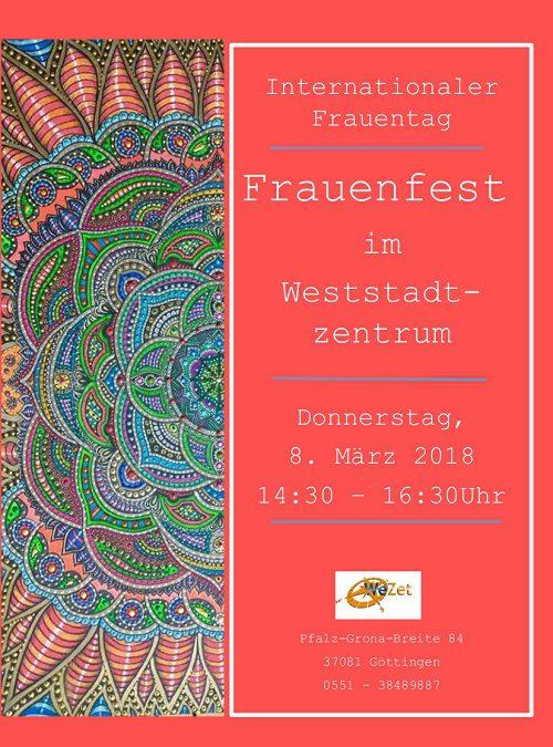 Frauenfest im Weststadtzentrum am 8. März