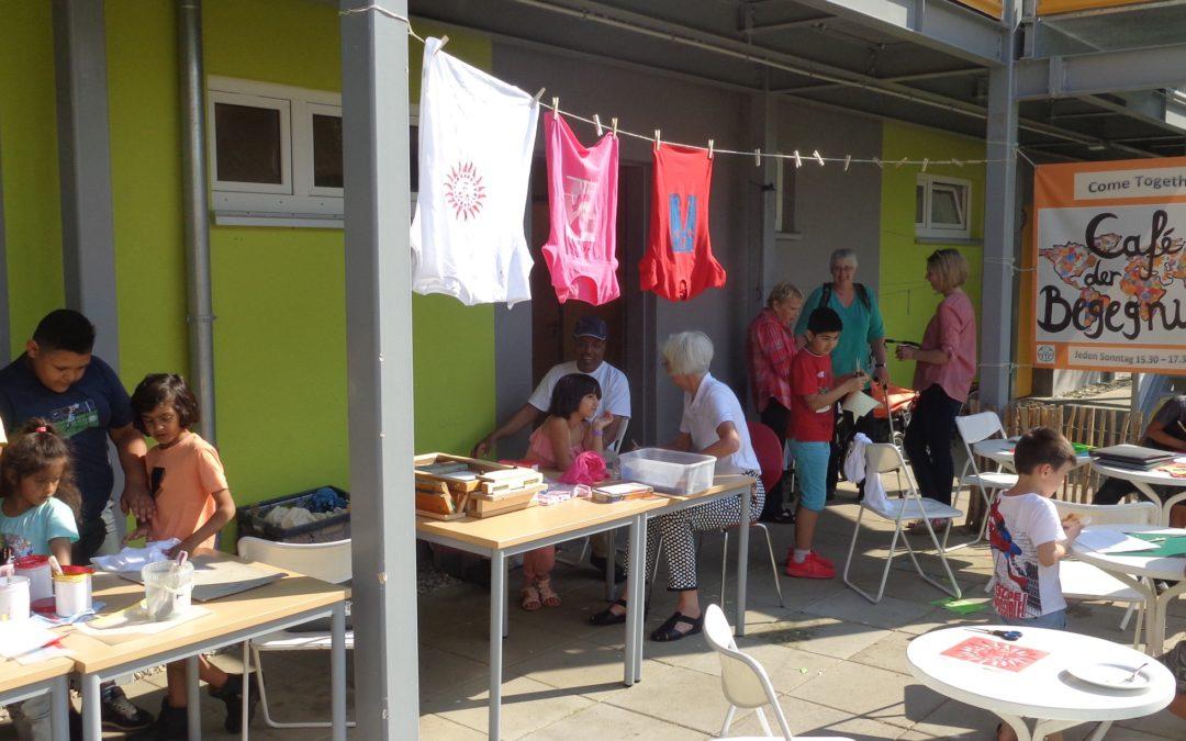 Begegnungs-Café auf den Zietenterrassen: Siebdruck-Workshop