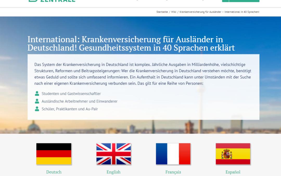 International: Krankenversicherung für Ausländer in Deutschland! Gesundheitssystem in 40 Sprachen erklärt