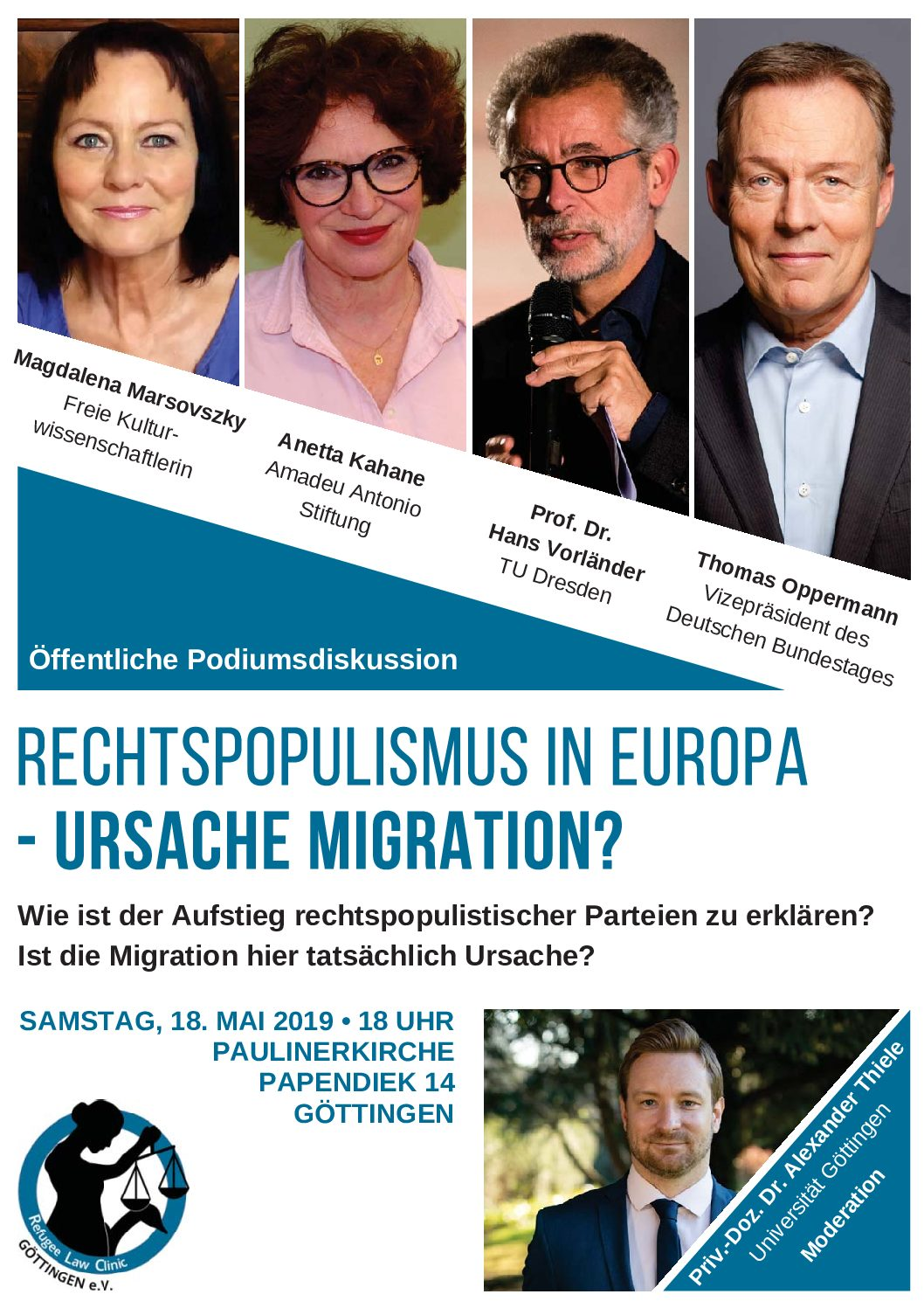 Podiumsdiskussion – Rechtspopulismus in Europa – Ursache Migration?