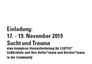 Seminar: Sucht und Trauma vom 17. – 19. November 2019