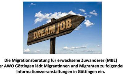"""Informationsveranstaltungen zum """"Einstieg ins Berufsleben"""" für Migrant*innen"""