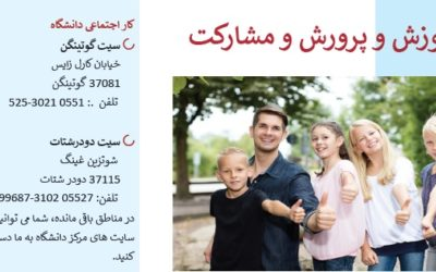 Flyer zum Bildungs- und Teilhabepaket in verschiedenen Sprachen