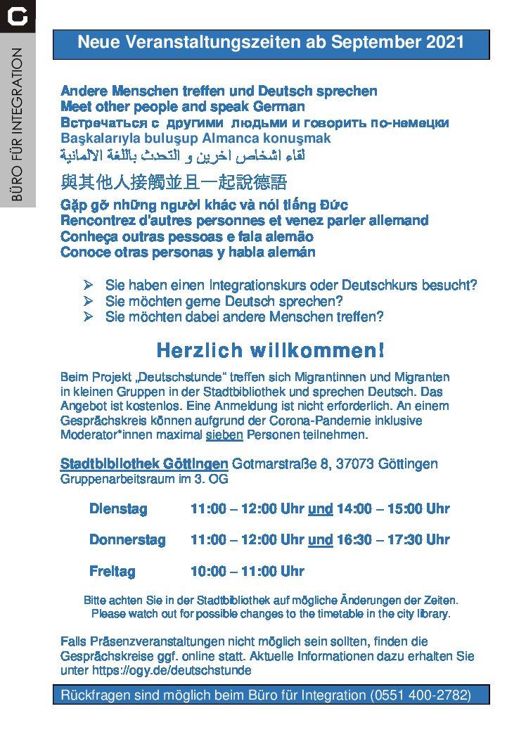 """Wiederaufnahme der """"Deutschstunde"""" in der Stadtbibliothek Göttingen"""